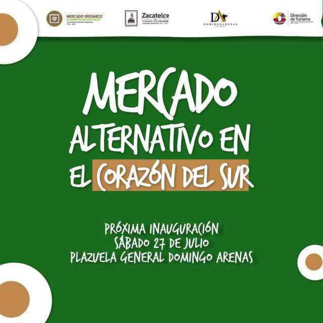Este sábado Zacatelco contara con un Mercado Orgánico Alternativo
