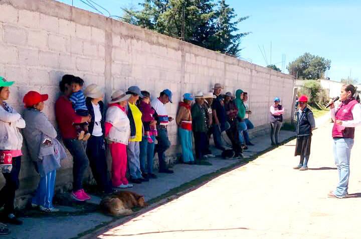 Pobladores de Atlangatepec se suman al proyecto de Michaelle Brito