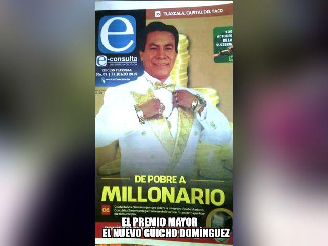 Se roba 60 millones de pesos de Chiautempan y lo premia Camacho