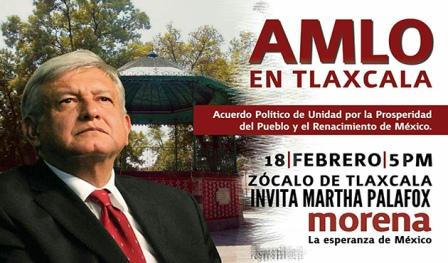 Invita Martha Palafox a próxima visita de AMLO a Tlaxcala