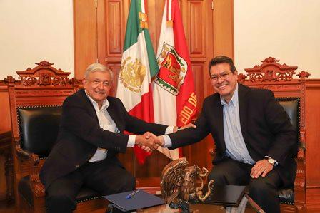 Marco Mena y Presidente Electo pactan trabajo coordinado