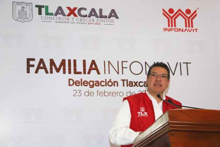 Beneficios del Infonavit reflejan crecimiento económico de México y Tlaxcala: Marco Mena
