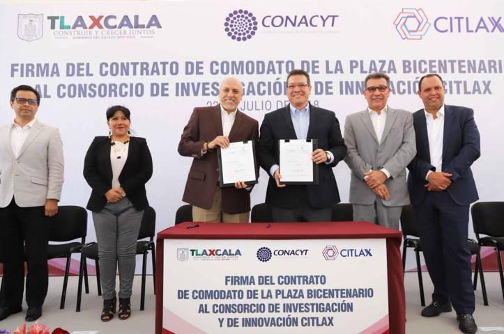 Conacyt se instalará en Plaza Bicentenario de Tlaxcala