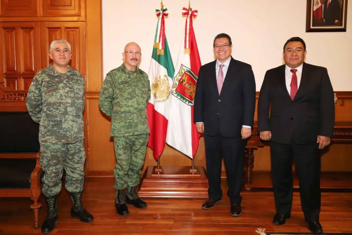 Trabajo coordinado con ejército para fortalecer seguridad: Marco Mena