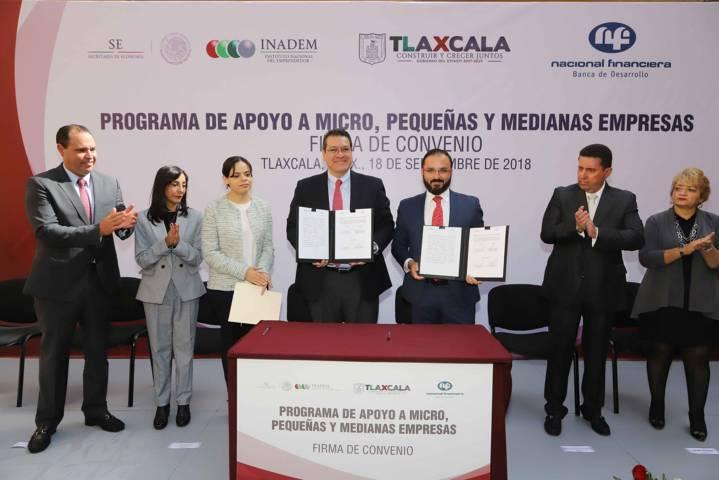 Marco Mena pone en marcha créditos a pequeñas empresas por 220 mdp