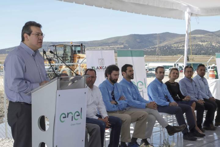 Marco Mena encabeza inicio de construcción de primera planta de energía renovable en Tlaxcala
