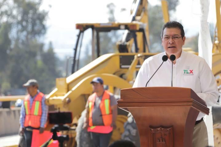 Marco Mena da inicio a modernización de Carretera Tlaxcala-Apizaco