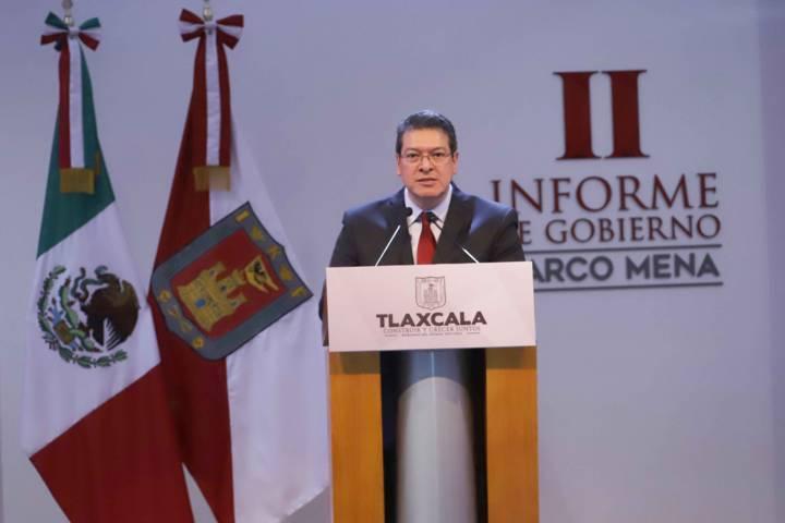 Marco Mena anuncia programa contra la pobreza durante Informe