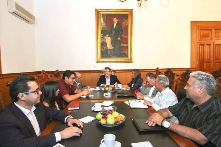 Se reúne Marco Mena con David Cervantes, Subsecretario Federal de Sedatu