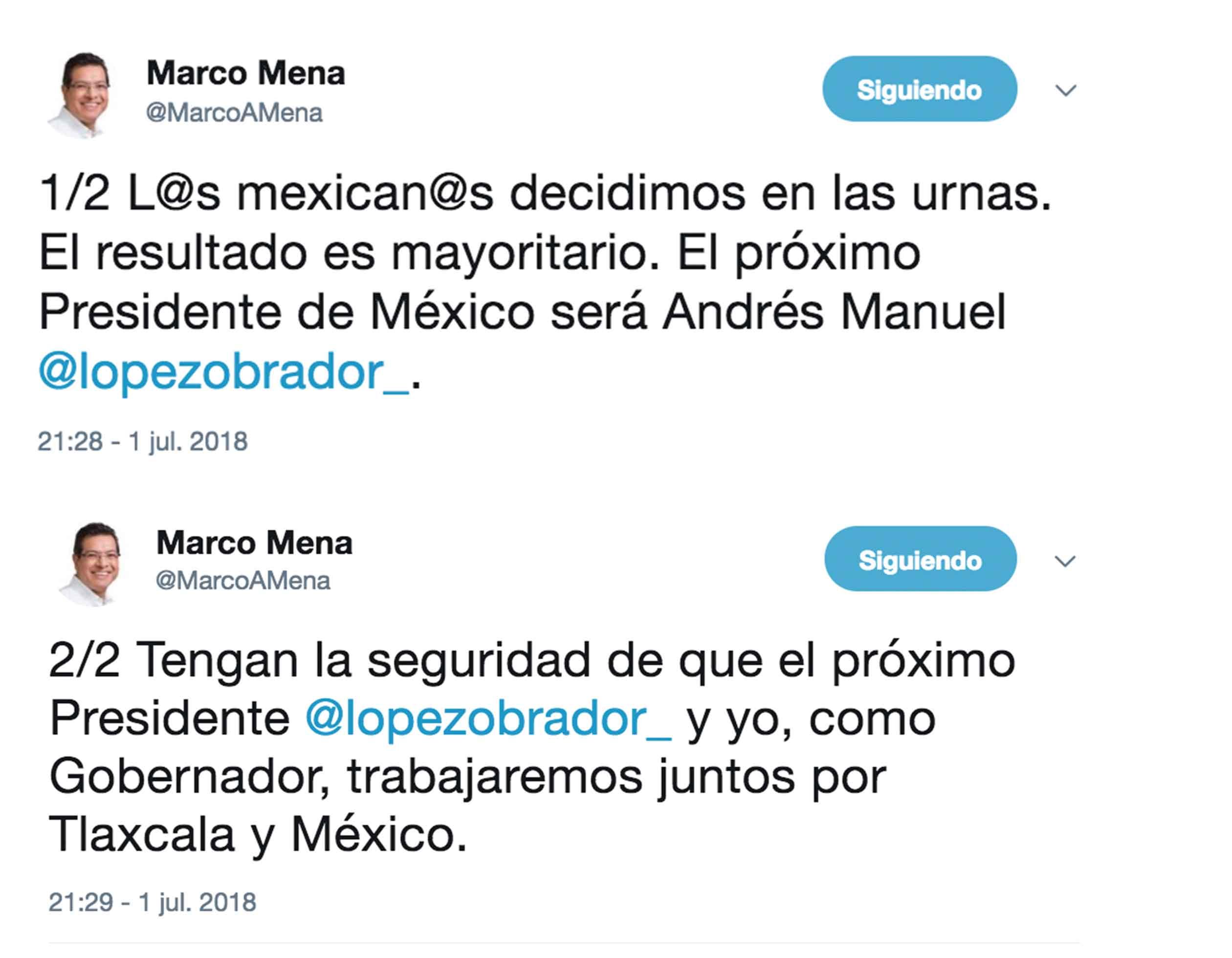 Resalta Marco Mena decisión de los mexicanos en las urnas