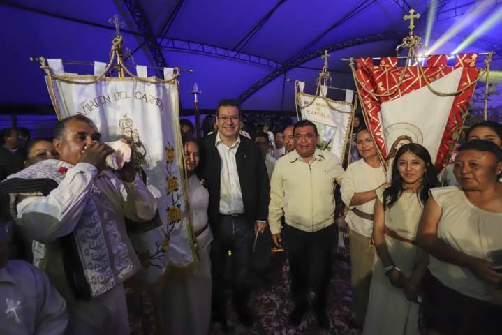 Asiste Marco Mena a representación de la Gran Jornada Tlaxcalteca