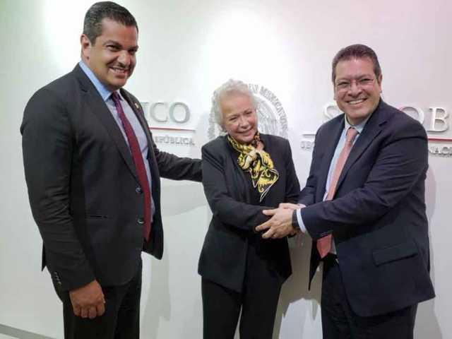 Marco Mena y Olga Sánchez Cordero acuerdan trabajo conjunto en favor de Tlaxcala