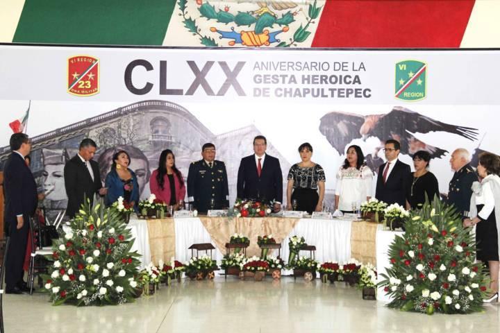 Conmenoran en zona militar gesta heroica de Chapultepec