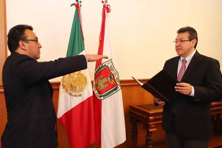 Designa Marco Mena a José Aarón Pérez como secretario de Gobierno