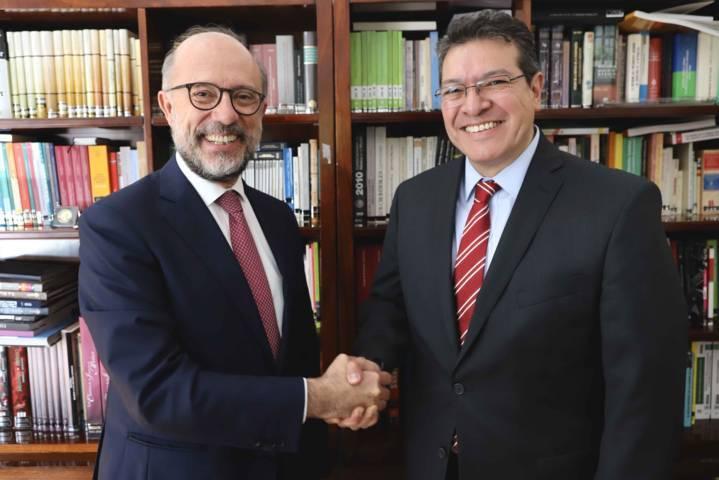 Marco Mena y embajador de España abordan conmemoración de los 500 años
