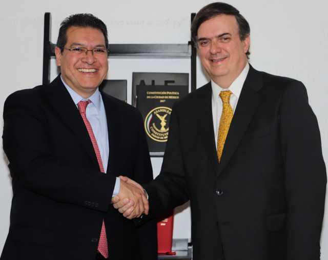 Marco Mena se reúne con Marcelo Ebrard, secretario de relaciones exteriores