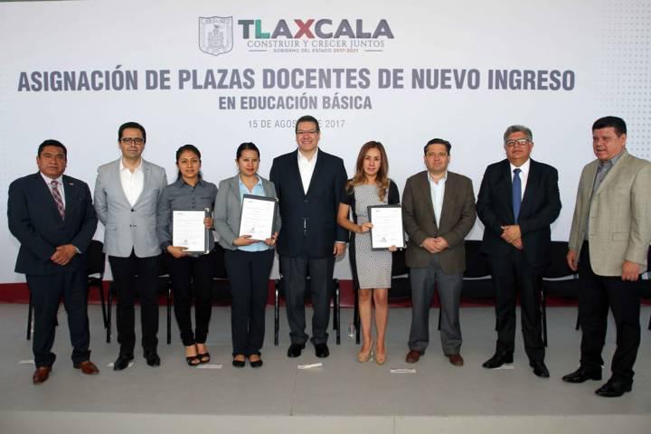 Asignan plazas docentes a maestros de nuevo ingreso en Tlaxcala