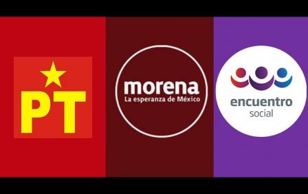 Perfila Morena, el PT y el PES triunfos en 10 distritos locales