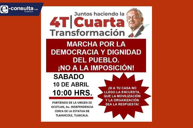 Morenistas inconformes convocan a mega marcha