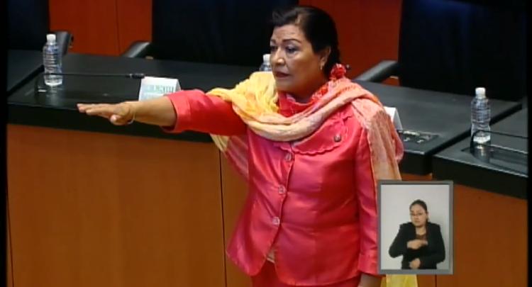 Rinde protesta Martha Palafox como Secretaría de la Mesa Directiva en el Senado