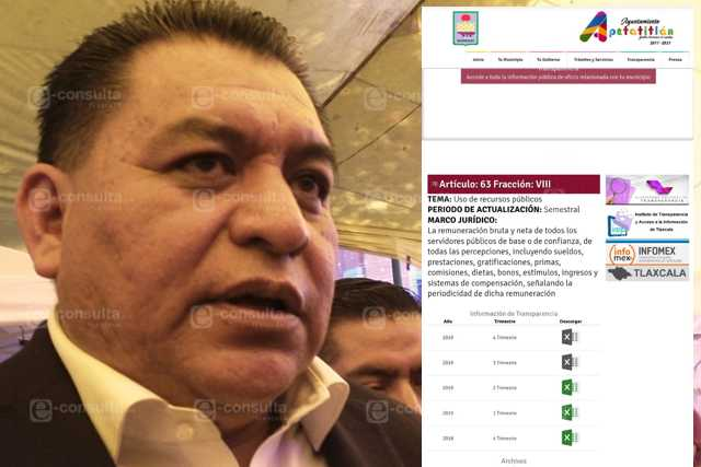 Presidente mujeriego de Apetatitlán bloquea transparencia de recursos