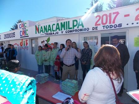 Listo el Centro de Atención Integral Comunitario de Nanacamilpa