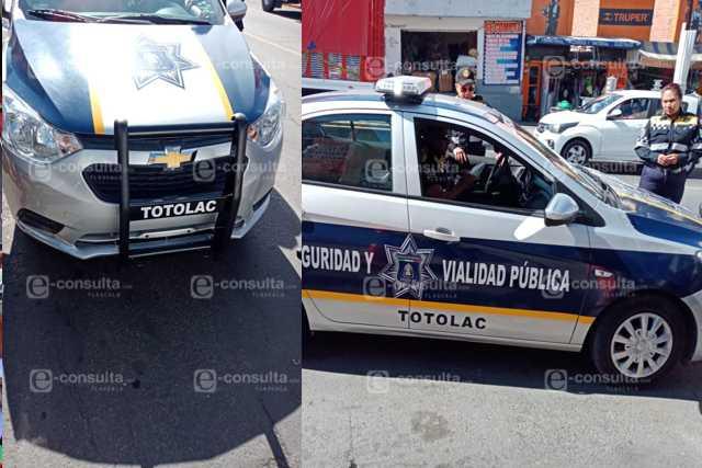 Policías mordelones y sin placas de circulación