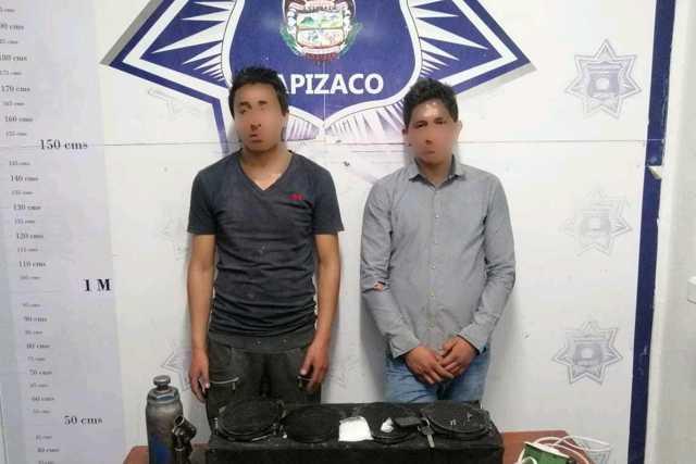 Denuncia, permite asegurar a sujetos con objetos robados en Apizaco