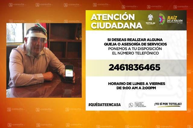 Totolac primer municipio en aperturar la atención de trámites en dispositivo móvil