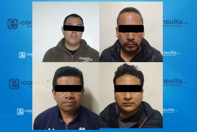 Policía de Chiautempan detienen a 4 por intento de robo