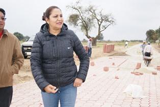 Lilia Olvera supervisa obras en Nanacamilpa