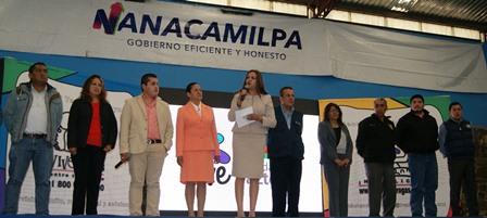 """Lilia Caritina Olvera trae campaña """"Vive"""" de Fundación Azteca a Nanacamilpa"""