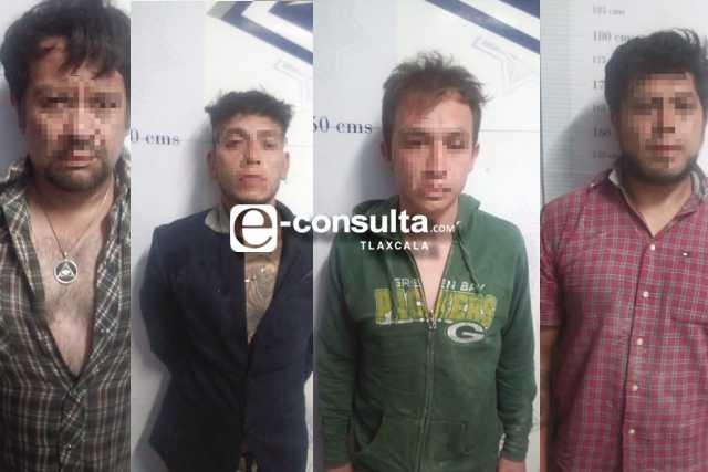 Rescata Policía de Apizaco a un secuestrado y detiene a cuatro imputados