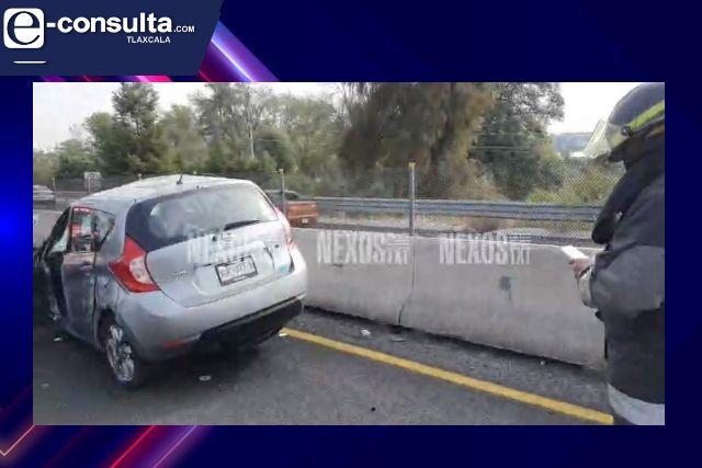 Aparatoso accidente sobre el periférico de Tlaxcala