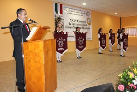 Inaugura  edil concurso de interpretación del Himno Nacional Mexicano