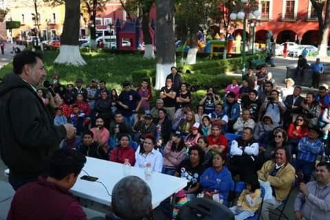 Convoca Fernández Noroña a la desobediencia civil en Tlaxcala