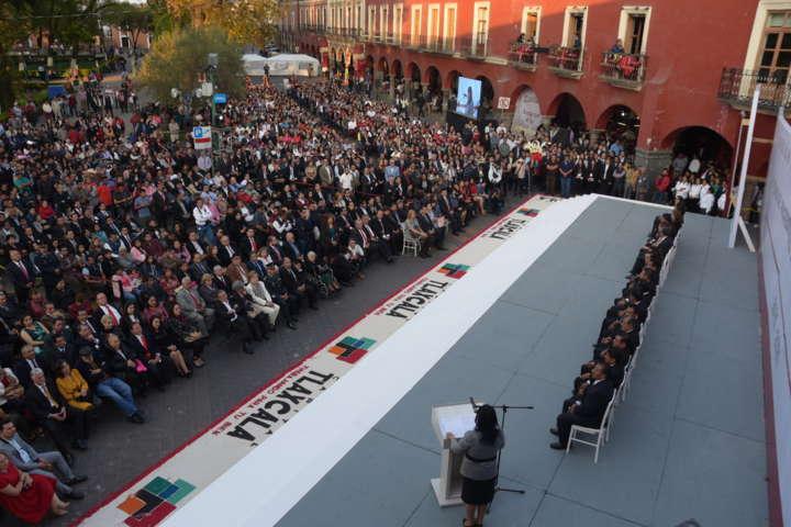 Contundente inicia Anabell Ávalos en Tlaxcala