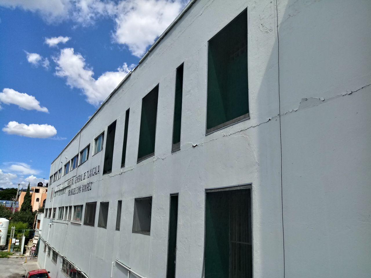 Clausuran Hospital General de Tlaxcala tras el sismo