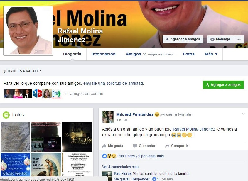 Fallece Rafael Molina Jiménez, ex alcalde y ex diputado local