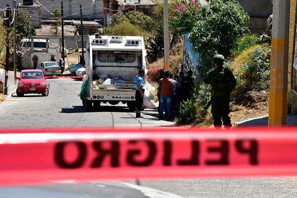 Encuentran 4 granadas en contenedor de basura en Totolac