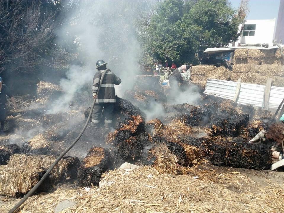 Bomberos atienden incendio en Tenancingo