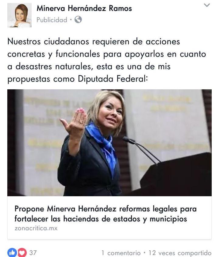Minerva Hernández burlaría lineamientos de piso parejo