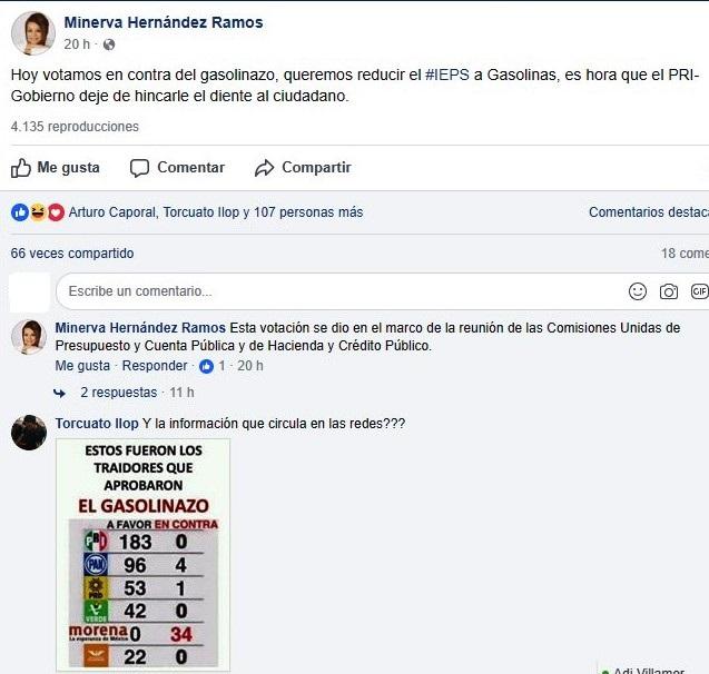 Minerva Hernández arremete contra el PRI para posicionarse