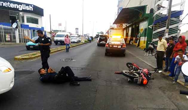 Atropellan a policía de Zacatelco; responsable es detenido