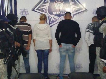 Desarticulan policía municipal banda de secuestradores en Apizaco