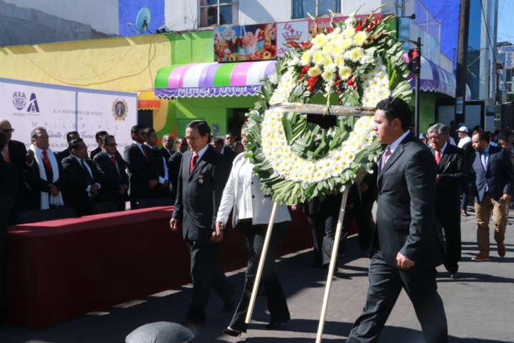 Conmemoran natalicio del Benemérito de las Américas en Apizaco