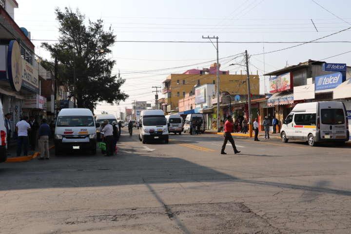 Impacta Plan de Movilidad en Apizaco con reasignación de paradas