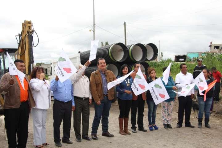 Pone en marcha  megaobras para 4 comunidades de Huamantla