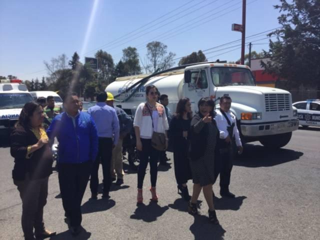 Se suma comuna de Tlaxcala a sofocar incendio en La Ocotera