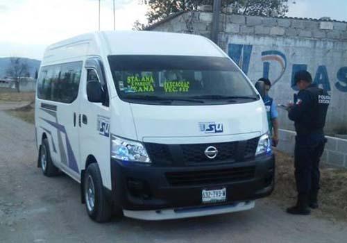 Montan operativo para evitar asaltos en unidades de transporte